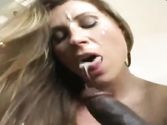 Hot white milf wife is fucked by bbc bull