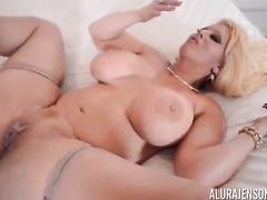 Blonde milf Alura Jenson bbc interracial compilation