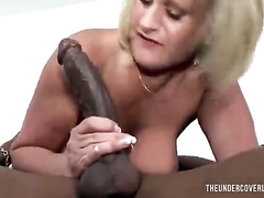 British mommy fucks a black guy to pay her rent