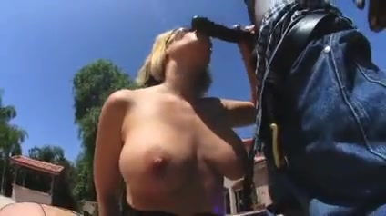 Blonde milf wife w big ass sucks and fucks bbc