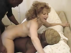 Amateur curly haired blonde with perfect body BBC DP'ed